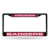 Wisconsin Badgers  BLACK LASER Chrome Frame