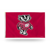 Wisconsin Badgers  3 X 5 Banner Flag
