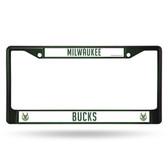 Milwaukee Bucks GREEN COLORED Chrome Frame