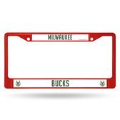 Milwaukee Bucks COLORED Chrome Frame SECONDARY RED