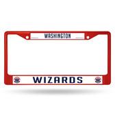 Washington Wizards COLORED Chrome Frame SECONDARY RED