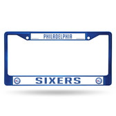 Philadelphia 76ers COLORED Chrome Frame SECONDARY BLUE