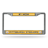 Pittsburgh Steelers # 1 MOM Pittsburgh Steelers GLITTER Chrome Frame