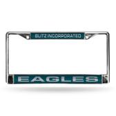 """Philadelphia Eagles """"BLITZ INC."""" LASER Chrome Frame"""