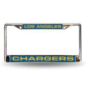 Los Angeles Chargers LT BLUE LASER Chrome Frame