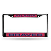 Atlanta Braves BLACK LASER Chrome Frame