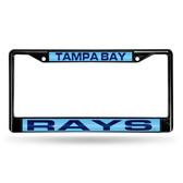 Tampa Bay Rays BLACK LASER Chrome Frame