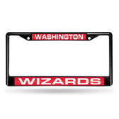 Washington Wizards BLACK LASER Chrome Frame