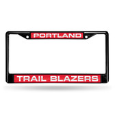 Portland Trail Blazers BLACK LASER Chrome Frame