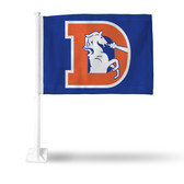 """DENVER  Broncos RETRO """"D"""" LOGO Car Flag"""