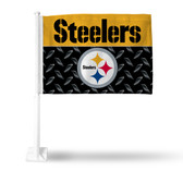 Pittsburgh Steelers (BLACK) Car Flag