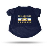 Los Angeles Chargers NAVY PET T-SHIRT - MEDIUM