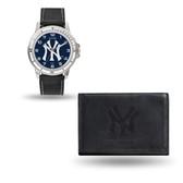 New York Yankees MENS Black Watch and Wallet