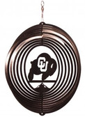 Colorado Buffaloes Circle Swirly Metal Wind Spinner