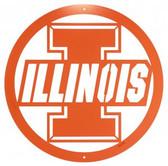 Illinois Fighting Illini 24 Inch Scenic Art Wall Design