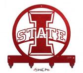 "Iowa State Cyclones ""I STATE"" Key Chain Holder Hanger"
