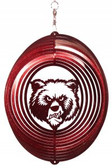 Montana Grizzlies Circle Swirly Metal Wind Spinner