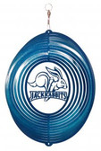 SDSU Jack Rabbits Circle Swirly Metal Wind Spinner