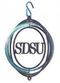 SDSU Jack Rabbits Tini Swirly Metal Wind Spinner