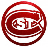 St. Could State Huskies 24 Inch Scenic Art Wall Design