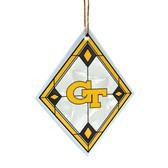 Georgia Tech Yellow Jackets Art Glass Ornament