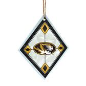 Missouri Tigers Art Glass Ornament
