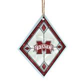 Mississippi State Bulldogs Art Glass Ornament