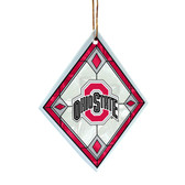 Ohio State Buckeyes Art Glass Ornament