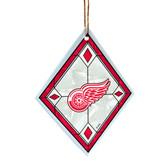 Detroit Red Wings Art Glass Ornament