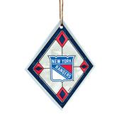 New York Rangers Art Glass Ornament