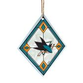 San Jose Sharks Art Glass Ornament