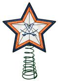Virginia Cavaliers Art Glass Tree Topper