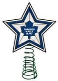 Toronto Maple Leafs Art Glass Tree Topper