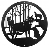 Wolf 12 Inch Scenic Sign