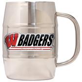 Wisconsin Badgers Macho Barrel Mug - 32 oz. - Wisconsin Badgers