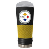 Pittsburgh Steelers The 24oz Powder Coated DRAFT - Vacuum Insulated Tumbler - Pittsburgh Steelers