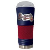 Atlanta Braves The 24oz Powder Coated DRAFT - Vacuum Insulated Tumbler - Atlanta Braves