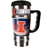 Illinois Fighting Illini 20oz Travel Mug