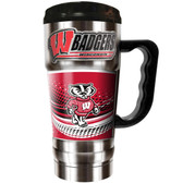 Wisconsin Badgers 20oz Travel Mug