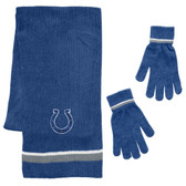 Indianapolis Colts Scarf and Glove Gift Set Chenille