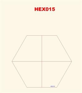Quarter Hexes (4) - 3MMHEX015