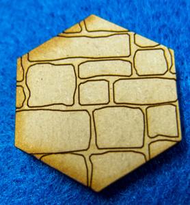 "1"" (25mm) Hex Base With Random Stone (MDF)"