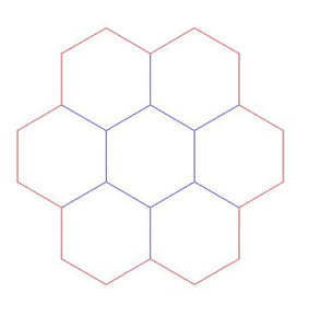 """Hex Bases, """"Circle of 7"""" - (3"""")"""