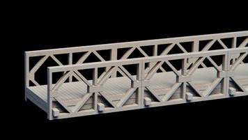 "Bailey Bridge, 16.9"" long (MDF) - 15MMDF270-2"