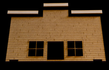 Old West One Story Building - 15MWEST011