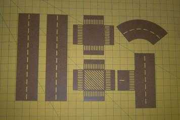 Road Marking Stencil Set (15mm-20mm)