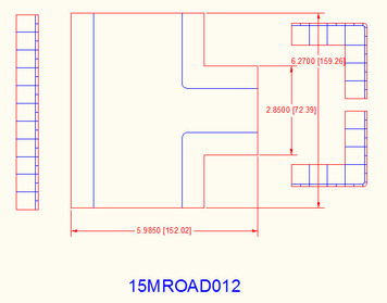 3 Way Intersection, 2 Lane Road to 1 Lane Road - 15MROAD012