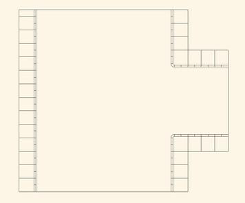 3 Way Intersection, 4 Lane to 2 Lane Road - 15MROAD003-4