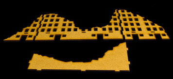 Ruined City Building 3 (MDF) - 20MMDF003