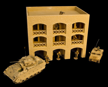 28mm Middle East 3 Story Building w/Removable Floors and Roof - 28MMDF152-1
